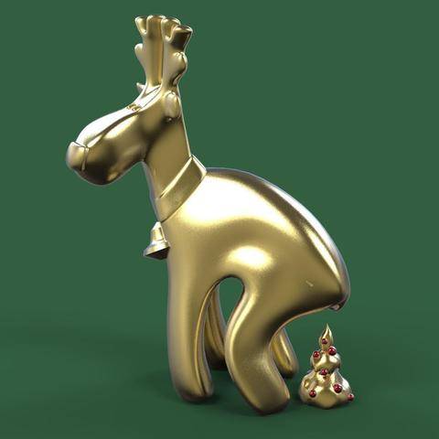 Descargar modelos 3D para imprimir Deer christmas joke:), 3dpark