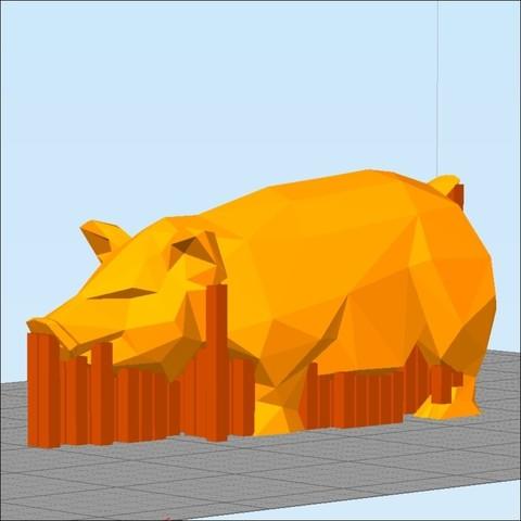 pig 3d printing pig.jpg Download STL file Pig low poly • 3D printing model, 3dpark