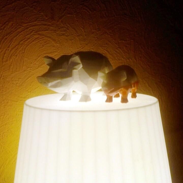 pig redy.jpg Download STL file Pig low poly • 3D printing model, 3dpark