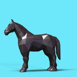 Download 3D printer designs Horse low poly, 3dpark