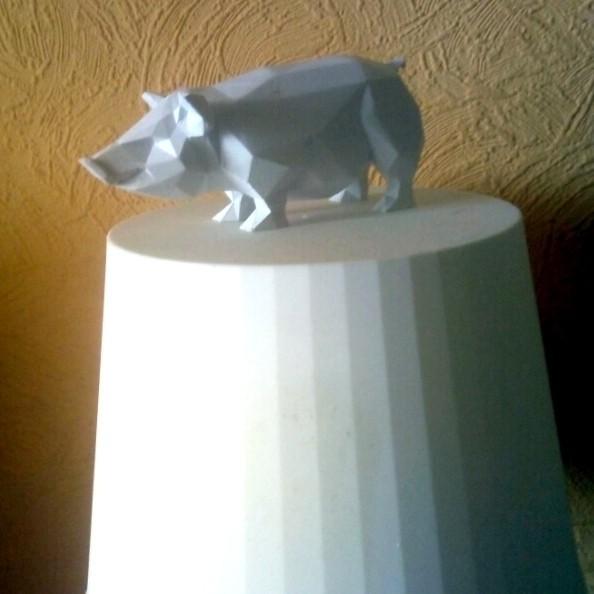 pig 3dprinting.jpg Download STL file Pig low poly • 3D printing model, 3dpark