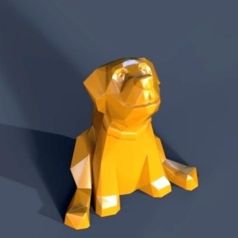 Download 3D printing designs Dog 2018, 3dpark