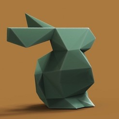 Download 3D printer designs Rabbit lowpoly optimized, 3dpark
