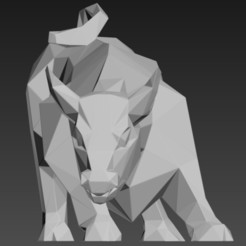 bull 2021.jpg Download STL file Bull 2021 New Year's symbol • Object to 3D print, 3dpark