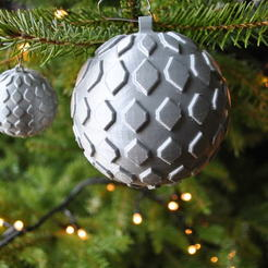 Download free 3D printer templates Christmas bauble, Maker_at_heart