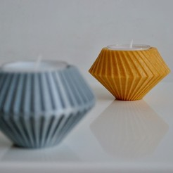 Download free 3D printing models Tealight holder with a twist, Maker_at_heart