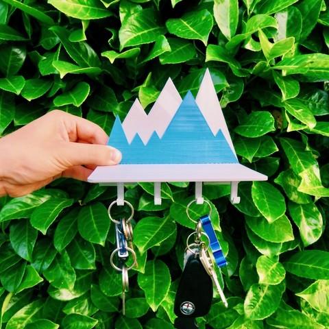 Download free 3D print files Key holder rack , Maker_at_heart