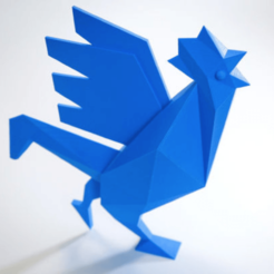 Plan imprimante 3D gatuit Le Coq officiel de la French Fab à imprimer en 3D, Volumic3D