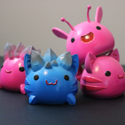 Télécharger plan imprimante 3D gatuit Slime Rancher Largos! - Rose Rock, Tabby rose, Rock Tabby, Phosphore rose, ChaosCoreTech