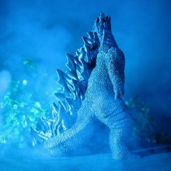 IMG_1888.JPG Download STL file Godzilla! No Supports! • 3D printer model, ChaosCoreTech