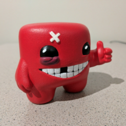 Download free STL file Super Meat Boy! • 3D printable template, ChaosCoreTech