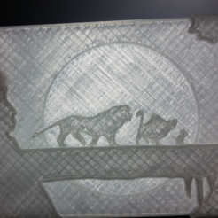 Free Lion King Lithophane STL file, ChaosCoreTech