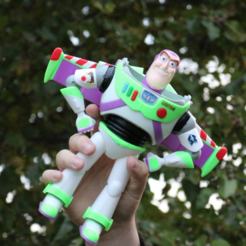 Download free STL file Buzz Lightyear - Multi Color Print • 3D printable design, ChaosCoreTech