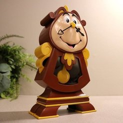 Download free 3D printing models Cogsworth - Beauty and the Beast, ChaosCoreTech