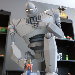 Download free STL file Massive Iron Giant and Hogarth • 3D printing design, ChaosCoreTech