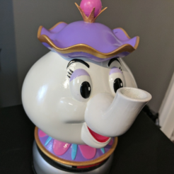 Free STL Mrs Potts Container! [Beauty and the Beast], ChaosCoreTech
