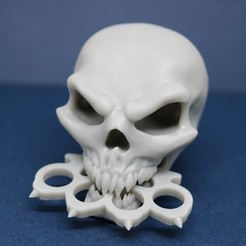 Download STL file Five Finger Death Punch Skull • Model to 3D print, ChaosCoreTech