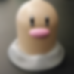 Download free 3D printer designs Diglett [Pokemon] - Easy to Print, ChaosCoreTech