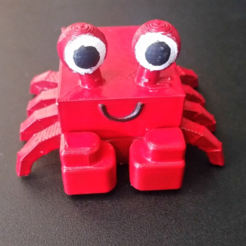 Free 3d printer model 3D Block Zoo Crab, ChaosCoreTech