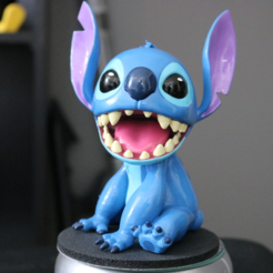 Download free 3D printer designs Stitch [Lilo and Stitch], ChaosCoreTech