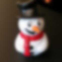 Free Cute Snowman! STL file, ChaosCoreTech