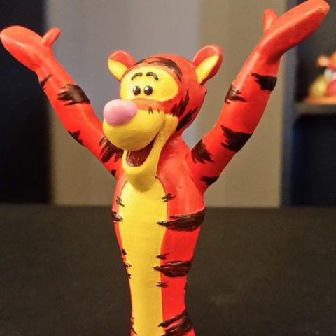Capture d'écran 2016-12-02 à 17.08.59.png Download free STL file  Tigger [Winnie the Pooh] • 3D printing design, ChaosCoreTech