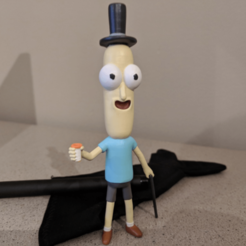 Capture d'écran 2018-05-04 à 11.25.07.png Download free STL file Mr Poopybutthole! [Rick and Morty] • 3D printer model, ChaosCoreTech