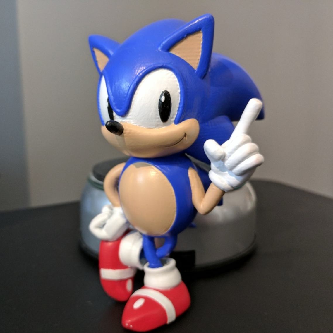Download Free 3d Printer Designs Sonic The Hedgehog With Logo Cults