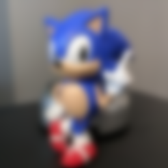 Free 3D printer designs Sonic the Hedgehog! (with Logo), ChaosCoreTech
