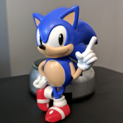 Free Sonic the Hedgehog! (with Logo) STL file, ChaosCoreTech