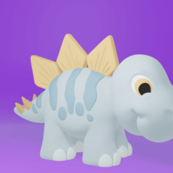 stego1.png Download STL file Stego the Baby Dinosaur • 3D print template, ChaosCoreTech