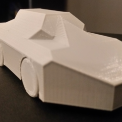 Free stl files Print in Place Toy Car, ChaosCoreTech