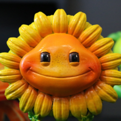 Download free STL file Sunflower (Plants vs Zombies) • 3D print template, ChaosCoreTech