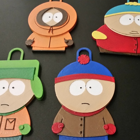 Free 3d printer designs Stan, Kyle, Kenny and Cartman - South Park Characters, ChaosCoreTech