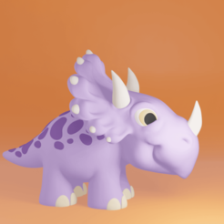 cera1.png Download STL file Cera the baby triceratops • 3D print template, ChaosCoreTech