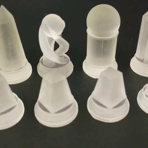 Free stl files Crystal Chess Set - SLA 3D Printing, ChaosCoreTech