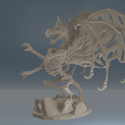 Drac3.png Download STL file Dracolich Full Body • 3D print template, ChaosCoreTech