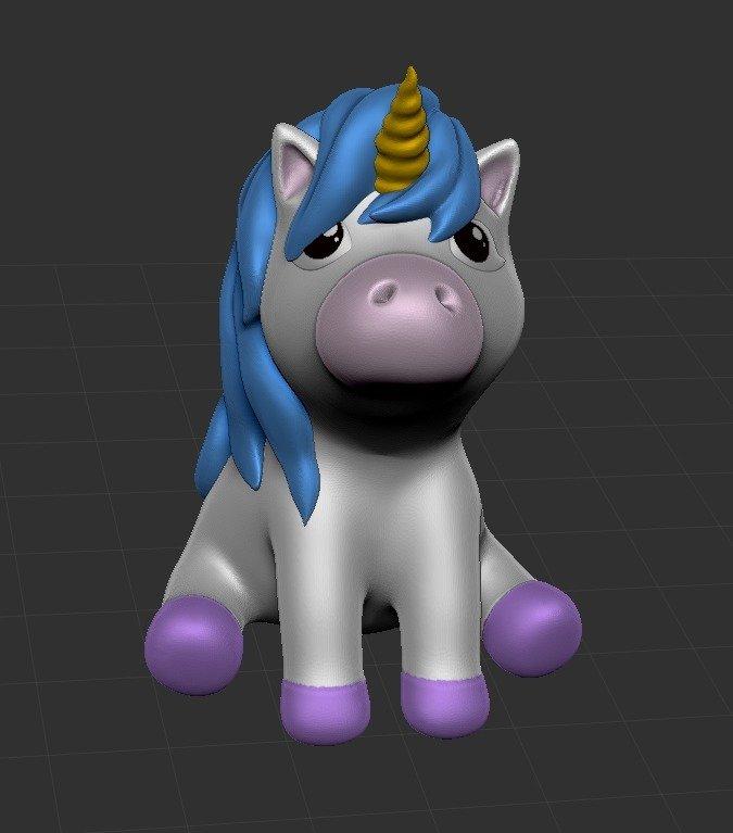 c7da2202001ef3739c67954b4c9dbb31_display_large.jpg Download free STL file PowderPuff Unicorn • 3D printing template, ChaosCoreTech