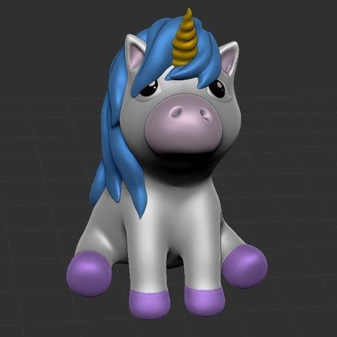 Download free 3D model PowderPuff Unicorn, ChaosCoreTech