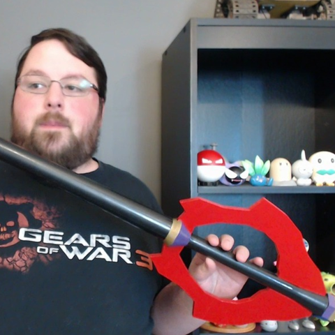 Download free 3D printer model Keyblade of the People's Hearts - Kingdom Hearts, ChaosCoreTech