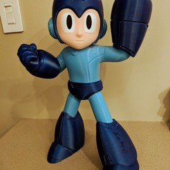 Download free 3D printer designs Mega Man! Each Color is a Separate STL!, ChaosCoreTech
