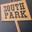 Free 3D printer designs Mr Hankey & South Park Sign, ChaosCoreTech