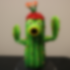 Download free 3D print files Cactus (Plants Vs Zombies), ChaosCoreTech