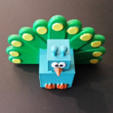 Free 3D model 3D Block Zoo Peacock, ChaosCoreTech