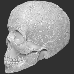 skull_mandala2.PNG Download STL file Mandala Lace Skull • 3D printer design, ChaosCoreTech
