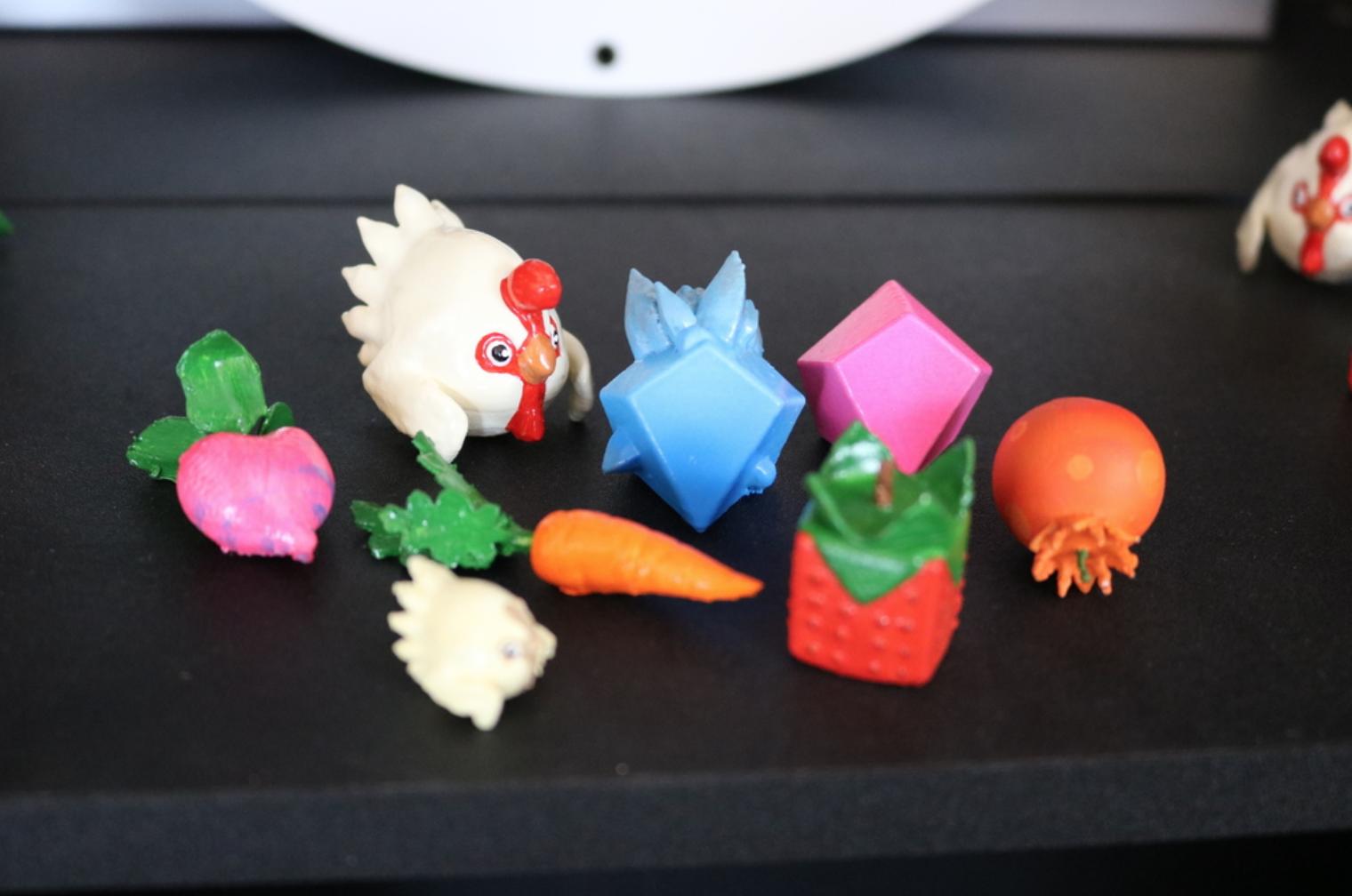 Capture d'écran 2017-11-29 à 10.13.27.png Télécharger fichier STL gratuit Slime Rancher Poule de poule, Chickadoo, Carotte, Cuberry, Heartbeet, Pogofruit, Plorts • Modèle imprimable en 3D, ChaosCoreTech