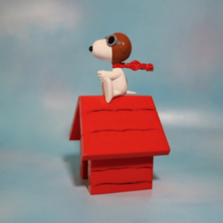 Free 3d printer files Pilot Snoopy - Red Baron Figure, ChaosCoreTech