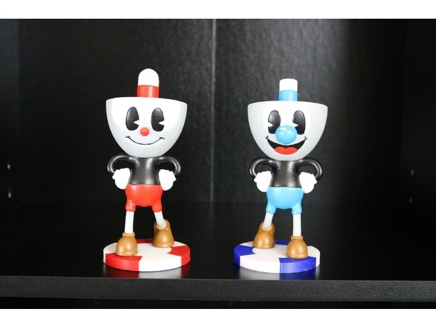 64d885f42570ac4b0476b4978a166be7_preview_featured.JPG Download free STL file Cuphead and Mugman • 3D printing model, ChaosCoreTech