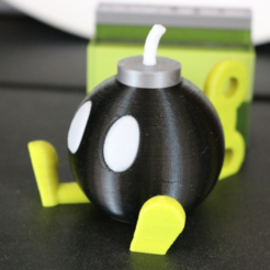 Download free STL file Bob-Omb! Multi Color/Material • Object to 3D print, ChaosCoreTech