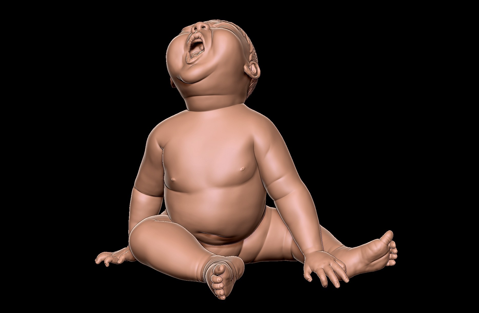 angry_baby_v02_02c.jpg Download OBJ file Angry baby improved version • 3D printing design, udograf